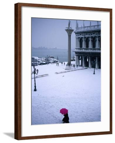 Piazetta of San Marco in Winter, Venice, Veneto, Italy-Roberto Gerometta-Framed Art Print