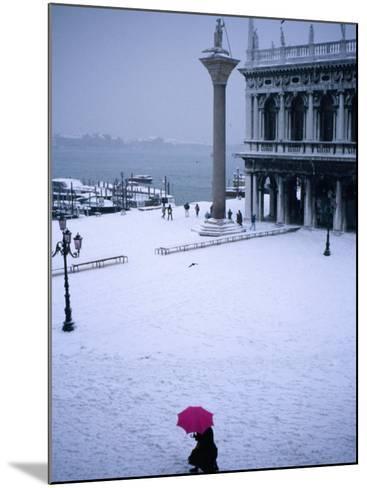 Piazetta of San Marco in Winter, Venice, Veneto, Italy-Roberto Gerometta-Mounted Photographic Print