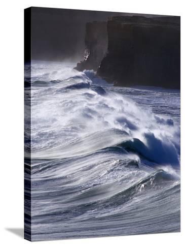 Waves Crashing on Cliffs, Port Campbell National Park, Australia-Rodney Hyett-Stretched Canvas Print