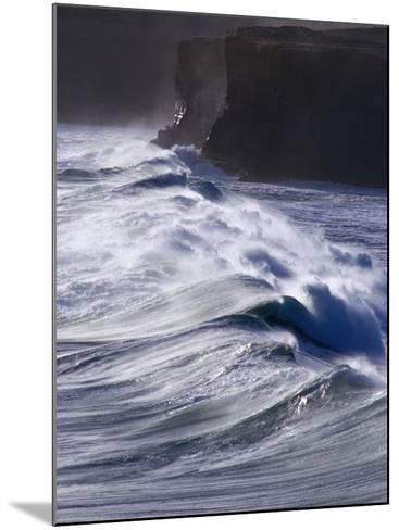 Waves Crashing on Cliffs, Port Campbell National Park, Australia-Rodney Hyett-Mounted Photographic Print