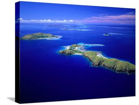 Yanuya Island on Right and Tavua Island on Left, Fiji-David Wall-Stretched Canvas Print