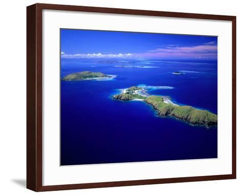 Yanuya Island on Right and Tavua Island on Left, Fiji-David Wall-Framed Art Print