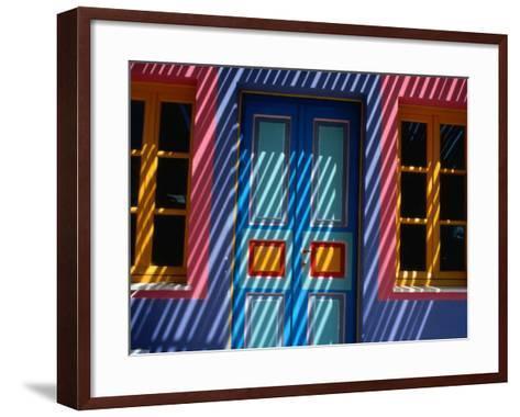 Filtered Sunlight on House, Greece-Izzet Keribar-Framed Art Print