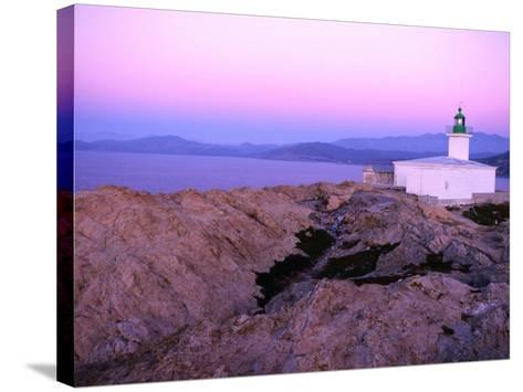 La Pietra Lighthouse, Ile Rousse, Corsica, France-Olivier Cirendini-Stretched Canvas Print
