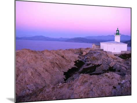 La Pietra Lighthouse, Ile Rousse, Corsica, France-Olivier Cirendini-Mounted Photographic Print