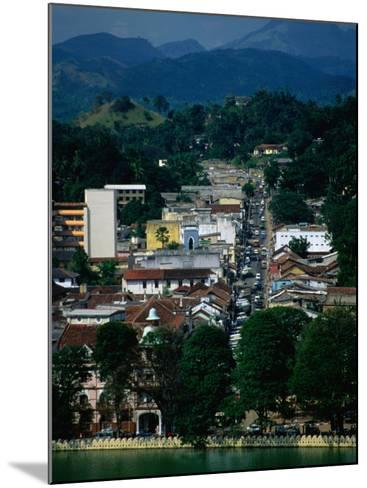 River and City Street in Distance, Kandy, Sri Lanka-Dallas Stribley-Mounted Photographic Print