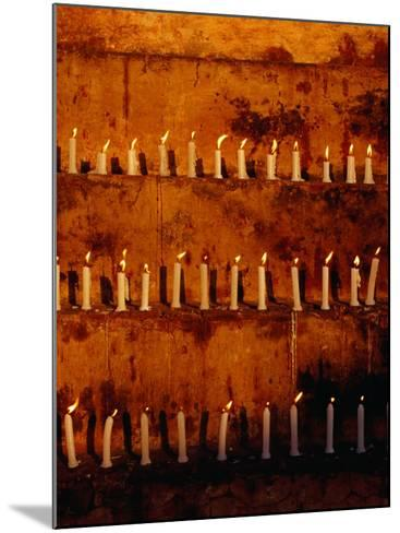Rows of Candles at Mahabodhi Temple, Bodhgaya, Bihar, India-Richard I'Anson-Mounted Photographic Print