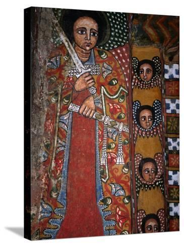 Mural Detail at Debre Birhan Sellassie Church, Debre Birhan, Amhara, Ethiopia-Jane Sweeney-Stretched Canvas Print