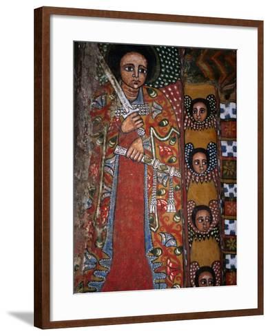 Mural Detail at Debre Birhan Sellassie Church, Debre Birhan, Amhara, Ethiopia-Jane Sweeney-Framed Art Print