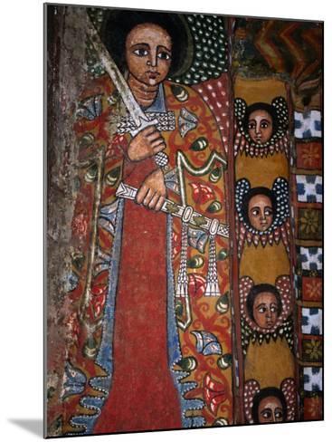 Mural Detail at Debre Birhan Sellassie Church, Debre Birhan, Amhara, Ethiopia-Jane Sweeney-Mounted Photographic Print