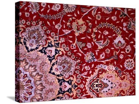 Detail of Tabrizi Carpet, Iran-Glenn Beanland-Stretched Canvas Print