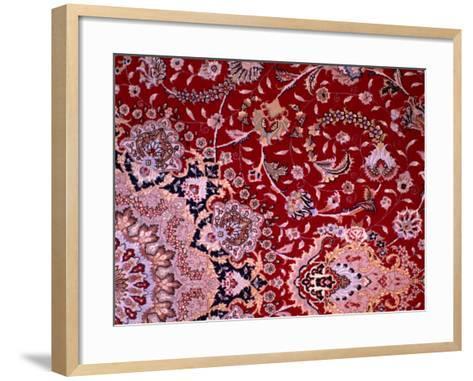 Detail of Tabrizi Carpet, Iran-Glenn Beanland-Framed Art Print