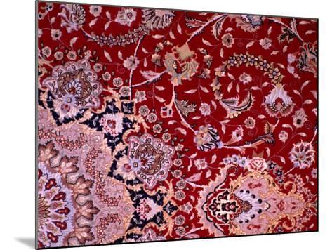 Detail of Tabrizi Carpet, Iran-Glenn Beanland-Mounted Photographic Print