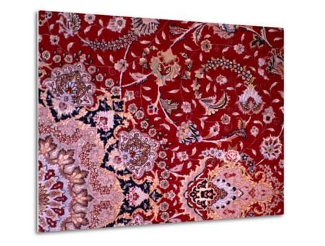 Detail of Tabrizi Carpet, Iran-Glenn Beanland-Metal Print