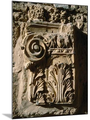 Carved Detail at Antonine Baths, Carthage, L'Ariana, Tunisia-Jane Sweeney-Mounted Photographic Print