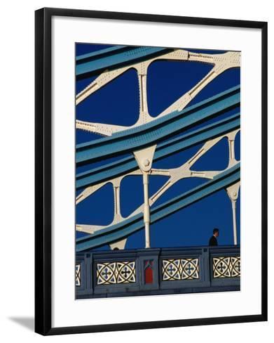 Tower Bridge's (1894) Neo-Gothic Architecture, London, England-Setchfield Neil-Framed Art Print