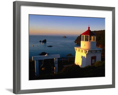 Trinidad Head Lighthouse, Trinidad, California, USA-Stephen Saks-Framed Art Print