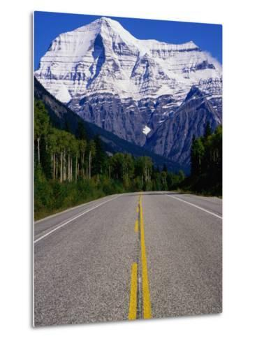 Road Leading to Mt. Robson, Rocky Mountains, Mt. Robson Provincial Park, Canada-Philip Smith-Metal Print