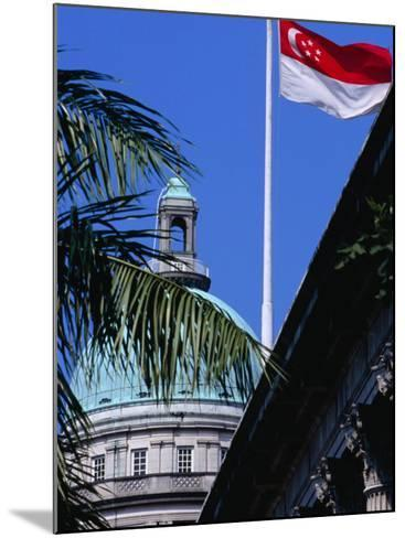 Flag and Dome of Old Supreme Court, Singapore, Singapore-Phil Weymouth-Mounted Photographic Print