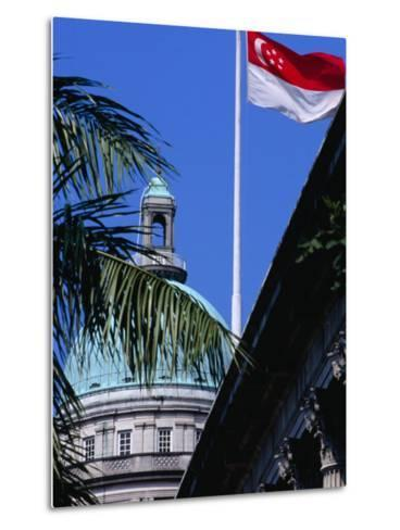 Flag and Dome of Old Supreme Court, Singapore, Singapore-Phil Weymouth-Metal Print