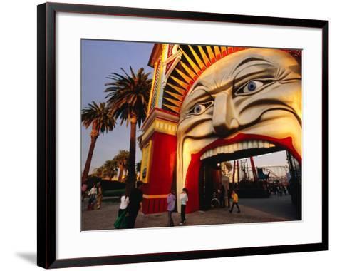Entrance of Luna Park, Melbourne, Australia-James Braund-Framed Art Print