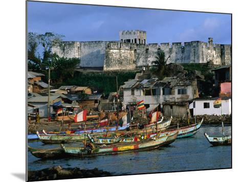 Historic Fort Metal Cross Overlooks the Harbour of Dixcove, Western, Ghana-Ariadne Van Zandbergen-Mounted Photographic Print