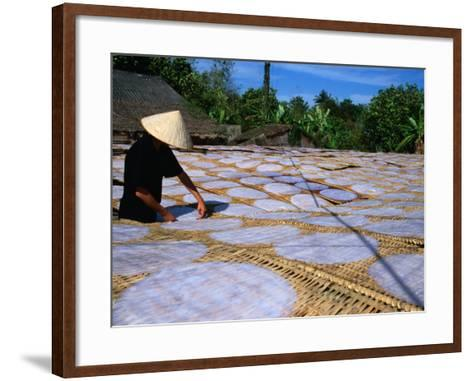 Drying Rice Paper Before Cutting into Noodles, Vietnam-Patrick Syder-Framed Art Print