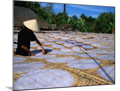 Drying Rice Paper Before Cutting into Noodles, Vietnam-Patrick Syder-Mounted Photographic Print