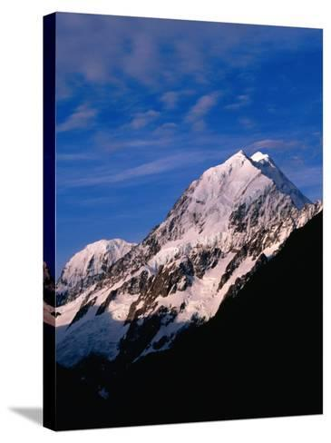 Pink Snow on Mount Cook, Mt. Cook National Park, New Zealand-David Wall-Stretched Canvas Print