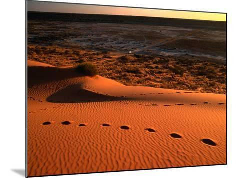 "On Top of the ""Big Red"" Sand Dune in the Simpson Desert, Birdsville,Queensland, Australia-John Hay-Mounted Photographic Print"