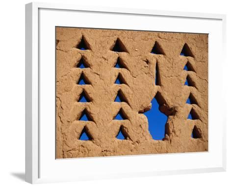 Architectural Feature of Al Dir'Aiyah Palace, Ancestral Home of Al-Saud, Riyadh, Saudi Arabia-Tony Wheeler-Framed Art Print