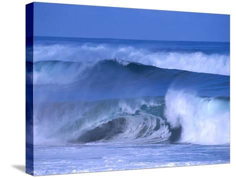 Big Surf at Papohaku Beach, Molokai, Hawaii, USA-Karl Lehmann-Stretched Canvas Print