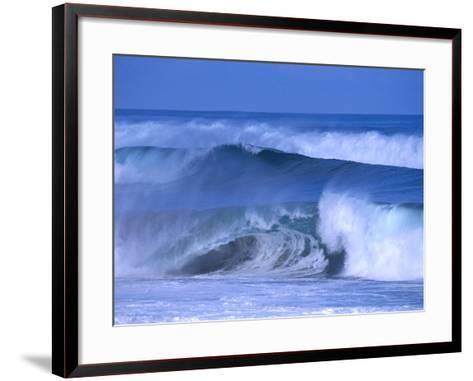 Big Surf at Papohaku Beach, Molokai, Hawaii, USA-Karl Lehmann-Framed Art Print