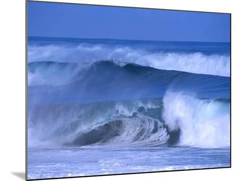 Big Surf at Papohaku Beach, Molokai, Hawaii, USA-Karl Lehmann-Mounted Photographic Print