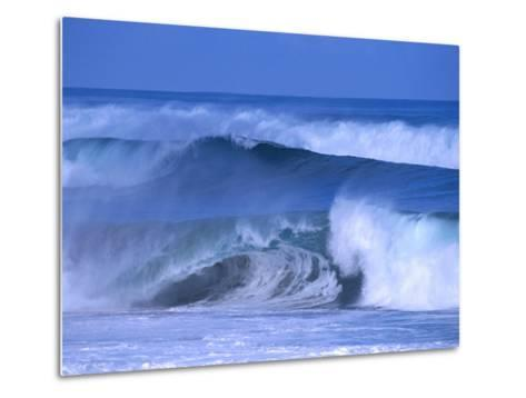 Big Surf at Papohaku Beach, Molokai, Hawaii, USA-Karl Lehmann-Metal Print
