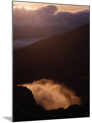 Sunrise Over Haleakala Crater, Haleakala National Park, Maui, Hawaii, USA-Lawrence Worcester-Mounted Photographic Print