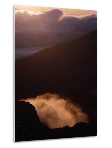Sunrise Over Haleakala Crater, Haleakala National Park, Maui, Hawaii, USA-Lawrence Worcester-Metal Print