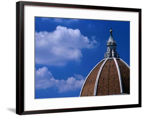 Dome of Il Duomo (Santa Maria Del Flore), Florence, Tuscany, Italy-Dallas Stribley-Framed Art Print