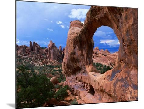 Looking Through an Arch in Arches National Monument, Utah, Arches National Park, USA-Mark Newman-Mounted Photographic Print
