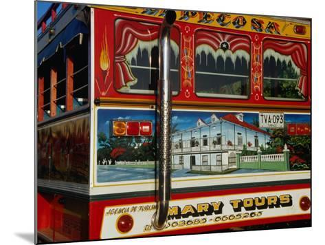 Chiva Traditional Colombian Bus with Wooden Painted Body, Cartagena, Bolivar, Colombia-Krzysztof Dydynski-Mounted Photographic Print
