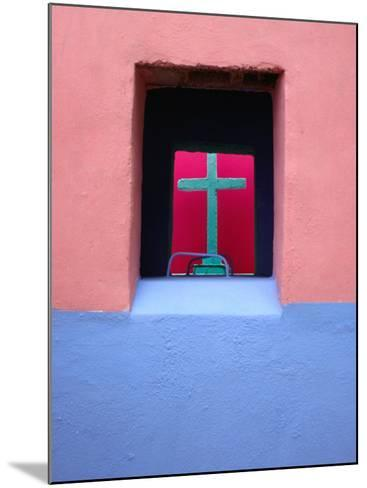 View Through Painted Tombs in the Cemetery of Nunkini in Campeche State, Mexico-Jeffrey Becom-Mounted Photographic Print