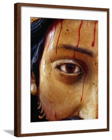 Detail of Statue of Christ in the Cathedral, San Cristobel De Las Casas, Mexico-Jeffrey Becom-Framed Art Print