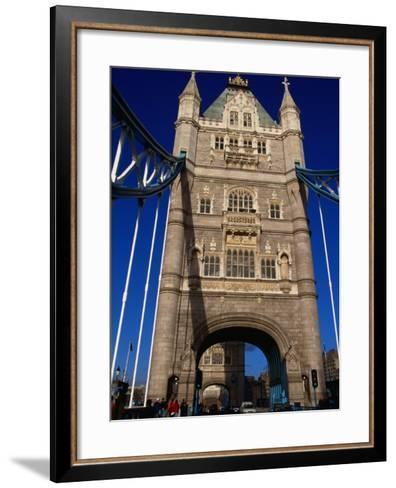 Traffic and People on the Tower Bridge - London, England-Doug McKinlay-Framed Art Print