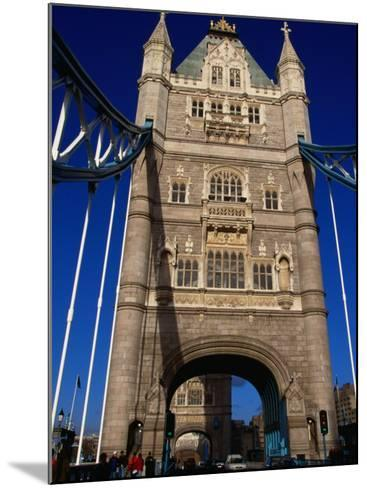 Traffic and People on the Tower Bridge - London, England-Doug McKinlay-Mounted Photographic Print