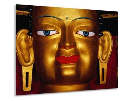 Shakyamuni Buddha Statue at Shey Monastery, Ladakh, India-Richard I'Anson-Metal Print