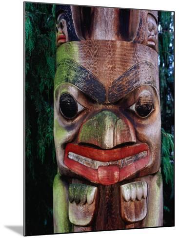 Detail of Totem Poles at University of Washington State Burke Museum, Seattle, Washington, USA-Lawrence Worcester-Mounted Photographic Print