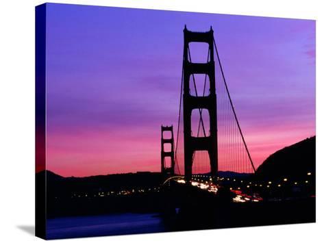 Golden Gate Bridge at Sunset, San Francisco, California, USA-Angus Oborn-Stretched Canvas Print