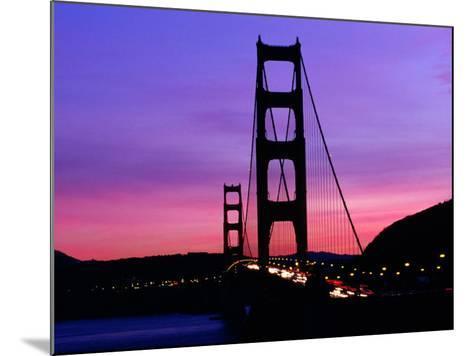 Golden Gate Bridge at Sunset, San Francisco, California, USA-Angus Oborn-Mounted Photographic Print