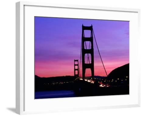 Golden Gate Bridge at Sunset, San Francisco, California, USA-Angus Oborn-Framed Art Print