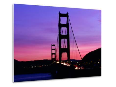 Golden Gate Bridge at Sunset, San Francisco, California, USA-Angus Oborn-Metal Print